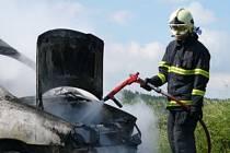 Požár dodávkového automobilu