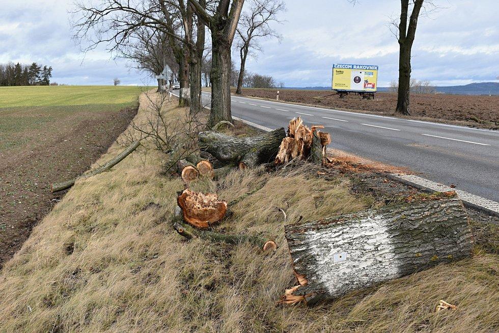 Většinu silnic zasypaly popadané větve, podobně jako v lokalitě zvané Huřviny