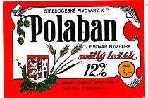 Červená barva a znak města Nymburk. Takovou etiketou byly ozdobeny lahve dvanáctistupňového světlého ležáku v 80. letech minulého století.