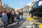 Studenti MOA Rakovník v simulátoru dopravních nehod na Husově náměstí