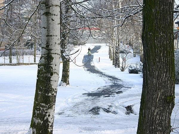 Do Rakovníka se vrátila zima leden 2011
