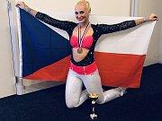 Rakovnická závodnice v aerobiku Žaneta Palčeková.