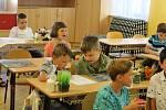 Také děti z 1. ZŠ Rakovník obdržely v pátek vysvědčení.
