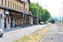 Vlakové nádraží v Rakovníku.