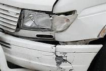 Nabourané auto rakovnických koledníků