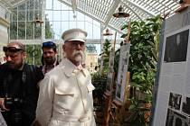 Na zahájení výstavy nechyběl ani prezident Masaryk.
