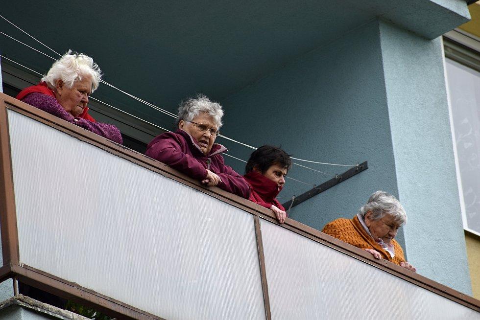 Obyvatelky pečovatelského domu v Rakovníku.