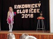 Na 23. ročníku Rakovnického slavíčka se mezi sebou utkalo čtyřicet dětí z osmi škol rakovnického okresu a soutěžily v pěti kategorií.
