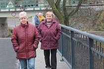 Otevření opraveného mostu v Pustovětech