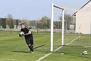 Z fotbalového utkání okresního přeboru Mšec - Zavidov B (1:2)
