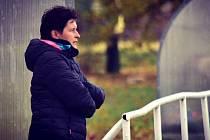 Trenérka fotbalistek Pavlíkova Veronika Bártová.