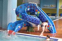 Mořský had - nová atrakce pro děti v rakovnickém krytém bazénu.