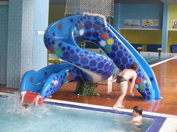 Mořský had - nová atrakce pro děti vrakovnickém krytém bazénu.