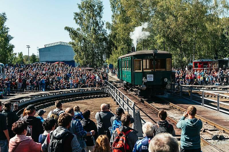 Den železnice v Lužné u Rakovníka.
