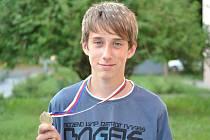 Jakub Gregor s medailí
