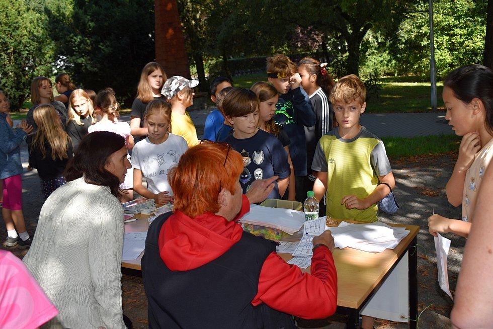 Den orientace v přírodě v Čermákových sadech v Rakovníku.