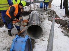 Oprava vodovodu - ilustrační foto