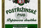 Pepinova desítka - pivní etiketa z osmdesátých let minulého století.