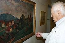 Krajinka malíře Josefa  Vackeho