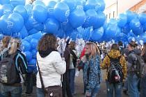 Pouštění balónků s přáníčky Ježíškovi