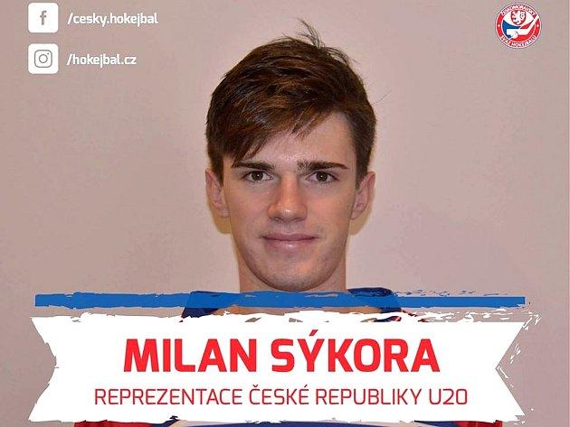 Milan Sýkora junior vdobě, kdy dostal první pozvánku do reprezentace ČR.