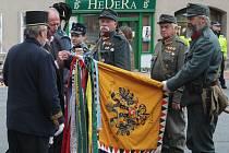 Svěcení spolkového praporu Spolku vojenských vysloužilců arcivévody Rainera pro Rakovník a okolí