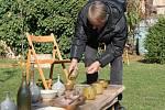 Vybírání hrnčířské pece v Mutějovicích