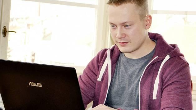 Václav Čermák při on-line rozhovoru