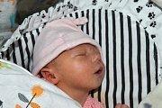 TAMARA CIENIK, PRAHA. Narodila se 1. dubna 2018. Po porodu vážila 3,1 kg a měřila 50 cm. Rodiče jsou Maria a Juraj.