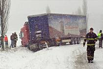 Sněhová kalamita na Karlovarce