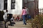 Hledání pokladu s detektivem Kvídem v Kněževsi.