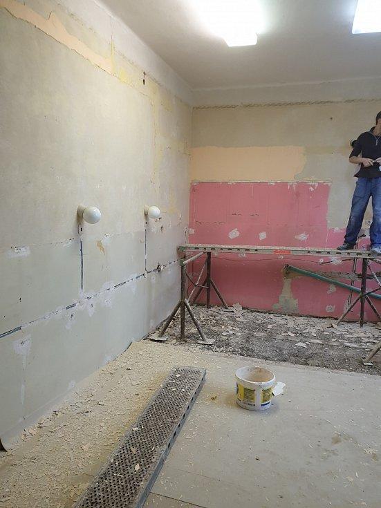 Rekonstrukce cvičné kuchyně.