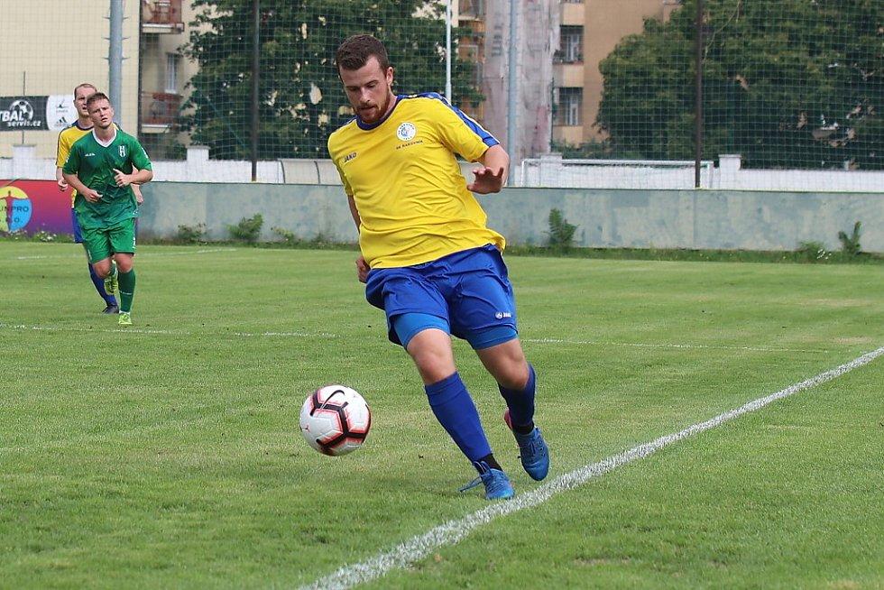 Z fotbalového utkání ČFL Loko Vltavín - SK Rakovník (4:0)