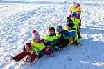 Děti z MŠ Průběžná si užívaly zimní ozdravný pobyt v Dětském resortu areálu Monínec na Benešovsku.