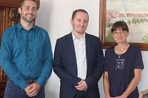Autoři vítězných návrhů: Jan Valer, Jiří Baroch a Marcela Braunová Regaiolliová.
