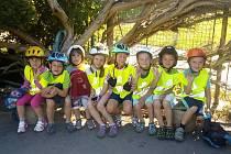 Děti ZŠ a MŠ Senomaty na dopravním hřišti