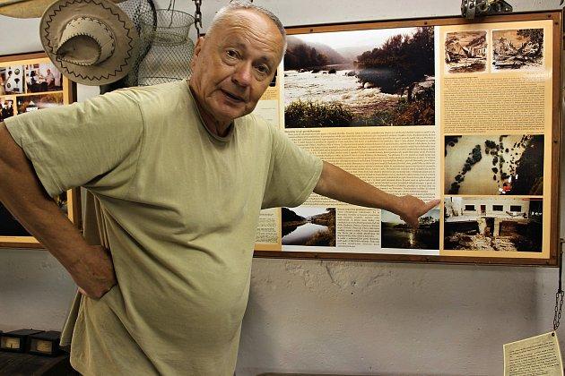 Mlynář Petr Čech má část expozice v Elektroskanzenu věnovanou právě záplavám.