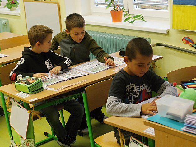Prvňáčci zČisté ve školním roce 2019/2020.