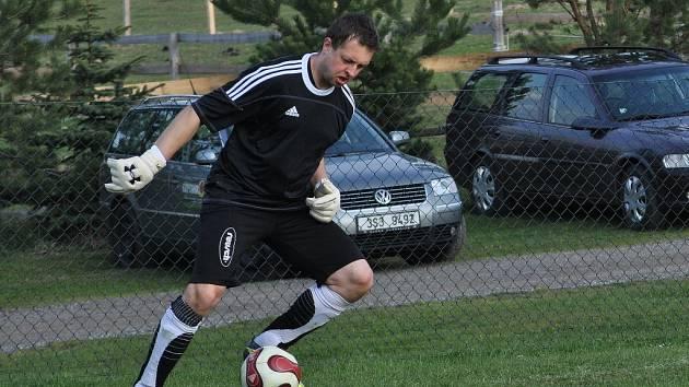 Martin Kopáček - jeden z nominovaných brankářů (Janov)
