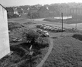Křižovatka ulic Malinovského a Plzeňské v roce 1979.