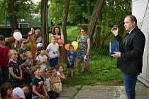 Z dětského sportovního odpoledne v Krušovicích.