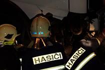 Zásah profesionálních hasičů