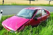 Dopravní nehoda u Lubné.