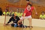 Pátý ročník vánočního florbalového turnaje v Novém Strašecí ovládl tým Zahoď dres.