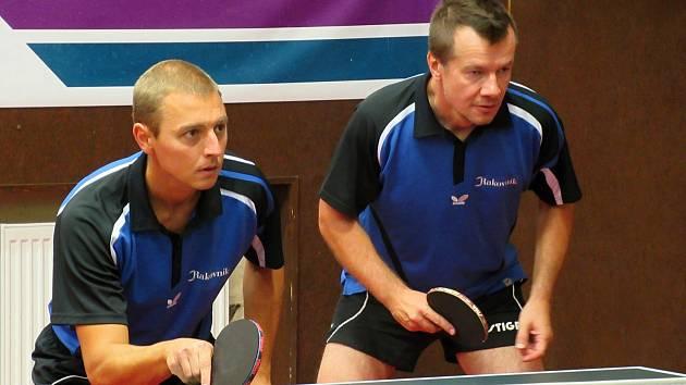 Pokud bude divizní soutěž na konci ledna znovu zahájena, budou oporami KST Rakovník v Hudlicích i Martin Kettner (vlevo) s Janem Přibíkem.