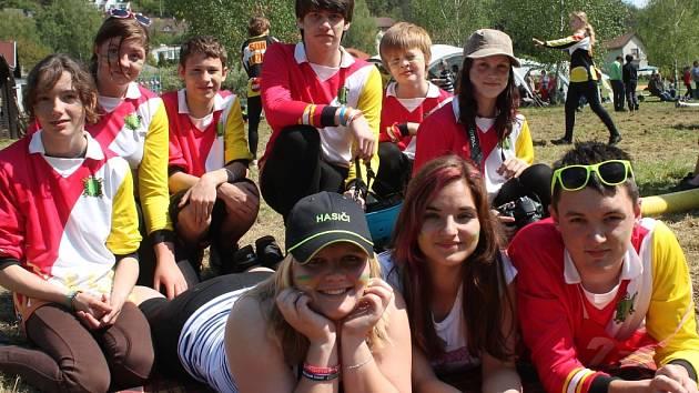 Mladí hasiči na Berounce
