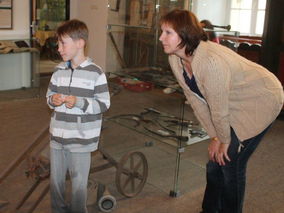 Táborníci navštívili muzeum v Novém Strašecí