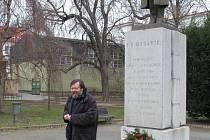 Položení květin u pomníku T.G. Masaryka v Rakovníku