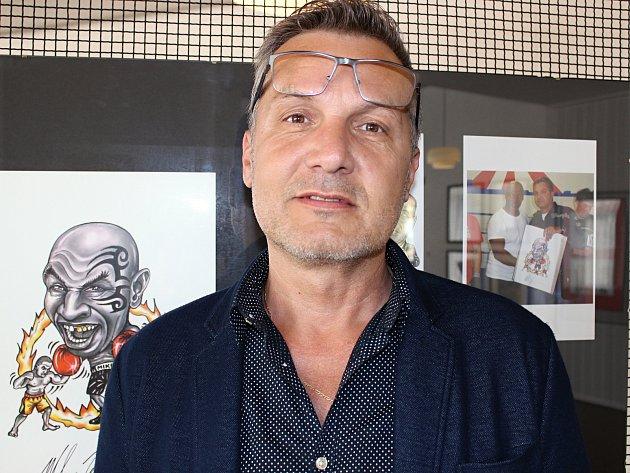 Milan Kounovský, karikaturista zRakovníka.