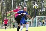 Z fotbalového utkání krajské I.B třídy Tatran Rakovník B - SK Lány (6:0)